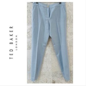 TED BAKER {S} Pants Baby Blue Flat Front Trousers